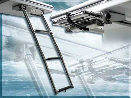 Heartland Marketing LMP1008 3-Step Undermount Swim Platform Ladder - Stainless Steel