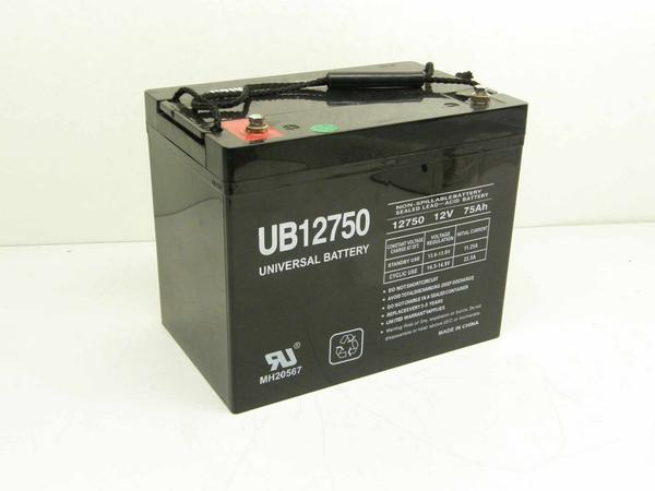 Universal Bat WTP12750 High-Output Gel Battery - 75Ah
