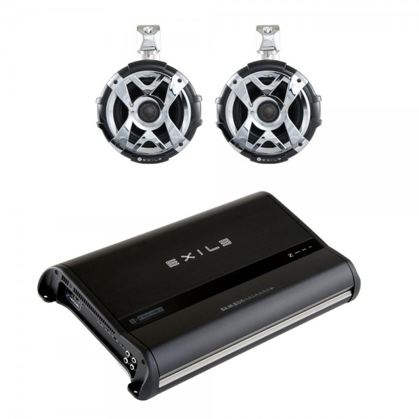 Exile SPAK2 Exile SXT9Q (2) Tower Speaker/Javelin Amp Package