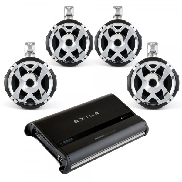 Exile WPAK4 Exile XM9 (4) HLCD Tower Speakers/Javelin Amp Package