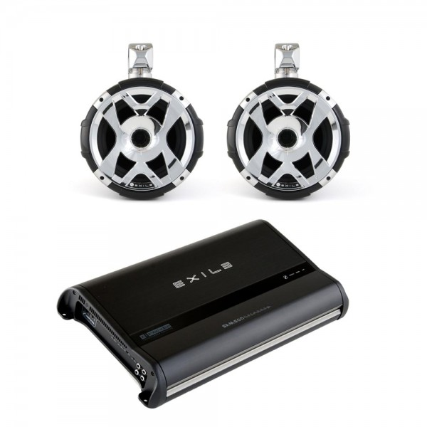 Exile WPAK2 Exile XM9 (2) HLCD Tower Speakers/Javelin Amp Package