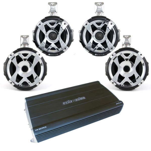 Exile SPAK6 Exile XM9/SXT9Q (4) Hybrid Tower Speaker/Javelin Amp Package